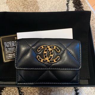 CHANEL - シャネル 財布 CHANEL19 スモールフラップウォレット 三つ折り財布