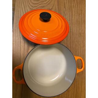 ルクルーゼ(LE CREUSET)のル・クルーゼ 鍋 ホーロー 20cm オレンジ(鍋/フライパン)