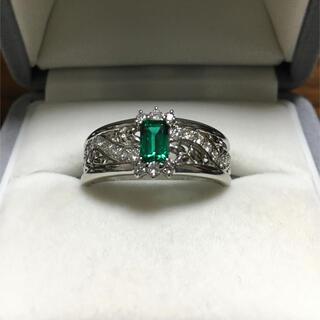 キョウセラ(京セラ)の京セラ クレサンベール 再結晶エメラルド リング Pt950 12.0g(リング(指輪))