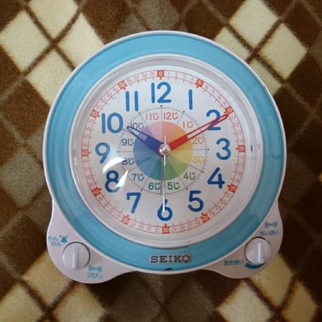 SEIKO(セイコー)の☆知育時計☆ピンク、ブルー インテリア/住まい/日用品のインテリア小物(置時計)の商品写真