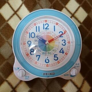 セイコー(SEIKO)の☆知育時計☆ピンク、ブルー(置時計)