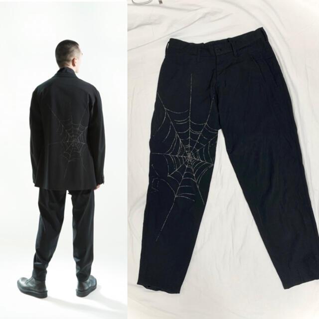 Yohji Yamamoto(ヨウジヤマモト)のYohji Yamamoto Black Scandal 蜘蛛の巣 スラックス メンズのパンツ(スラックス)の商品写真