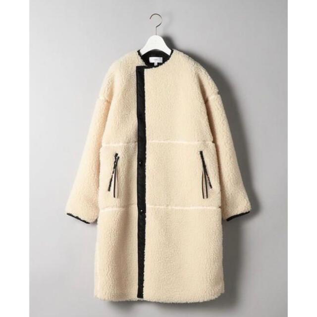 HYKE(ハイク)の新品 ハイク サイズ2 ボアロングコート レディースのジャケット/アウター(ロングコート)の商品写真