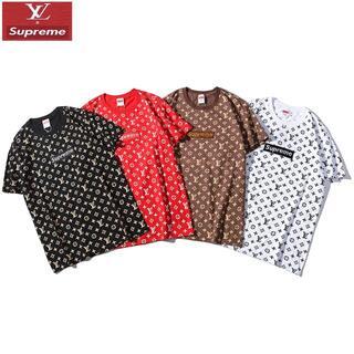 Supreme - 2801Supremeプリント&刺繍シュプリーム 2枚千円値引きTシャツ半袖