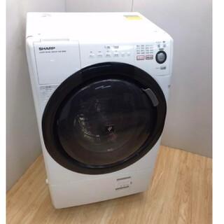 SHARP - ドラム式洗濯機 プチドラム 乾燥機 マンションサイズ ワンルームでも置けちゃう