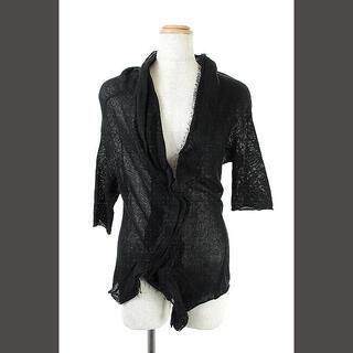 ワイズ(Y's)のワイズ Y's ヨウジヤマモト 変形ニットカットソー 七分袖 黒 /AO ■O(ニット/セーター)