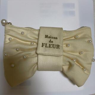 メゾンドフルール(Maison de FLEUR)のメゾンドフルール リボン ポーチ(ポーチ)