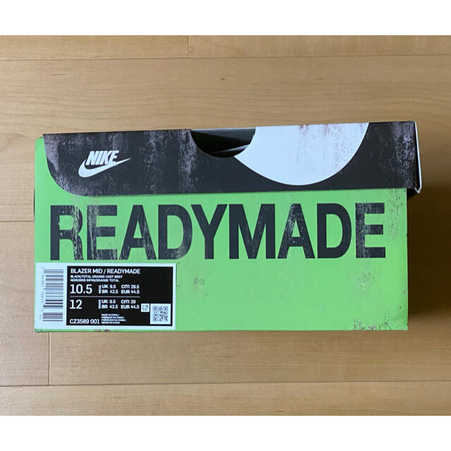 NIKE(ナイキ)のNike × READYMADE Blazer Mid BLACK 28.5cm メンズの靴/シューズ(スニーカー)の商品写真