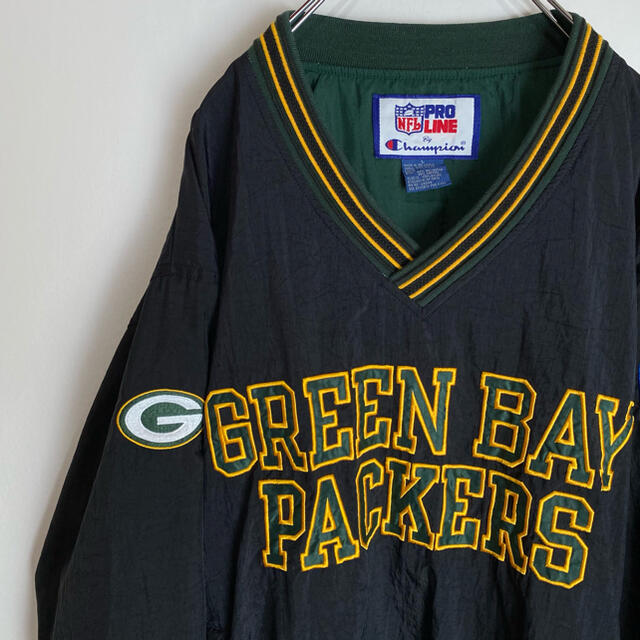 Champion(チャンピオン)のグリーンベイ パッカーズ ナイロンプルオーバーGreen Bay Packers メンズのジャケット/アウター(ナイロンジャケット)の商品写真