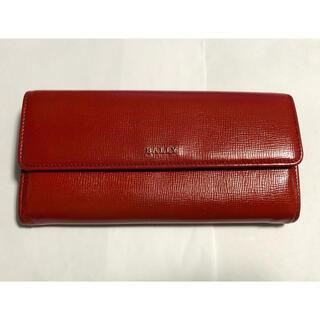 バリー(Bally)のBALLY バリー レザー 二つ折り長財布 (レッド)(財布)