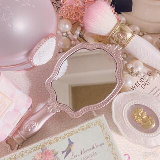 レメルヴェイユーズラデュレ(Les Merveilleuses LADUREE)の【新品未使用】ラデュレ ミラー ピンク 手鏡 ハンドミラーN(ミラー)