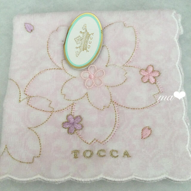 TOCCA(トッカ)の今期🌸大人気 桜柄 花柄刺繍 トッカ TOCCA 刺繍 ハンカチ ジルスチュア レディースのファッション小物(ハンカチ)の商品写真