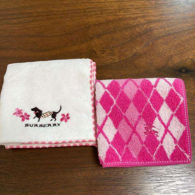 BURBERRY(バーバリー)のバーバリー タオルハンカチ 未使用 ダックス 桜 レディースのファッション小物(ハンカチ)の商品写真