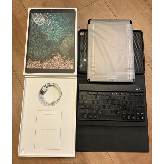 iPad(アイパッド)のiPad Pro 10.5インチ★64GB★スペースグレー★キーボードカバー付き スマホ/家電/カメラのPC/タブレット(タブレット)の商品写真