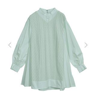 Ameri VINTAGE - 【完売商品】ニットドッキングシャツ