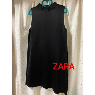 ZARA - ZARA  ノースリーブワンピース ブラック