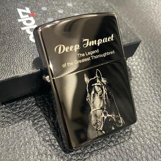 ジッポー(ZIPPO)の【ZIPPO】ディープインパクト 引退記念ジッポー 競馬 2006個限定 美品(タバコグッズ)