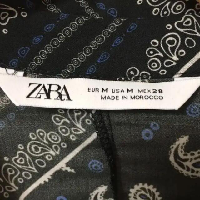 ZARA(ザラ)のak様専用 ZARA ペイズリー柄 ワンピース Mサイズ レディースのワンピース(ロングワンピース/マキシワンピース)の商品写真