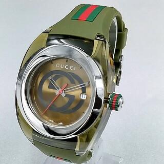 グッチ(Gucci)の新品人気GUCCI WATCH SYNCグッチ腕時計カーキー男女兼用ユニセックス(ラバーベルト)