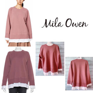 Mila Owen - Mila Owen Tシャツドッキングトレーナー風ニット