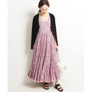 IENA - IENA MARIHA 草原の虹のドレス ノースリーブ