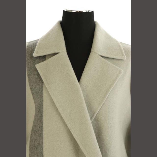 ADORE(アドーア)のアドーア ADORE 20AW クロスパネルリバーコート ウール ベルト付き グ レディースのジャケット/アウター(その他)の商品写真