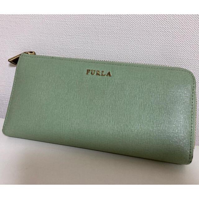 Furla(フルラ)のFURLA ミントグリーン長財布 レディースのファッション小物(財布)の商品写真