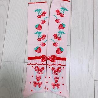 アンジェリックプリティー(Angelic Pretty)のAngelic Pretty Strawberry Parlour オーバーニー(ソックス)