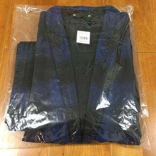 新品 2(M) minedenim black denim check gawn