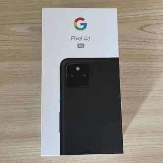 Google Pixel - 新品未使用 Pixel4a (5G) 128GB ブラック SIMロック解除済み