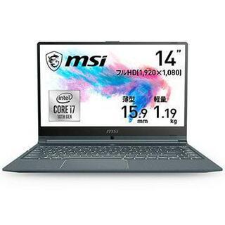 7%オフ【新品】 ビジネスノート Modern 14 Core i7 MSI