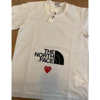 THE NORTH FACE - プレイコムデギャルソン  ノースフェイス 半袖Tシャツ レディースMサイズ
