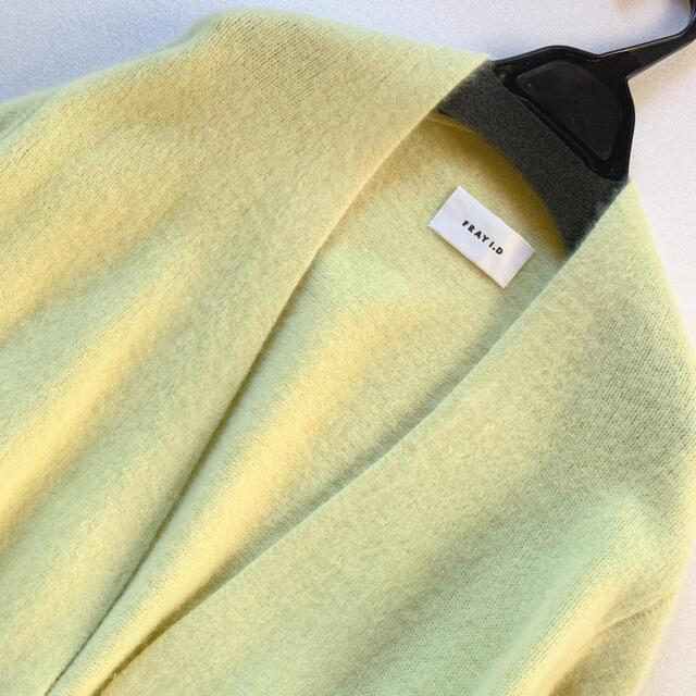 FRAY I.D(フレイアイディー)の新品未使用!フレイアイディー ラクーンカシミアニットカーデ ロングカーディガン レディースのトップス(カーディガン)の商品写真