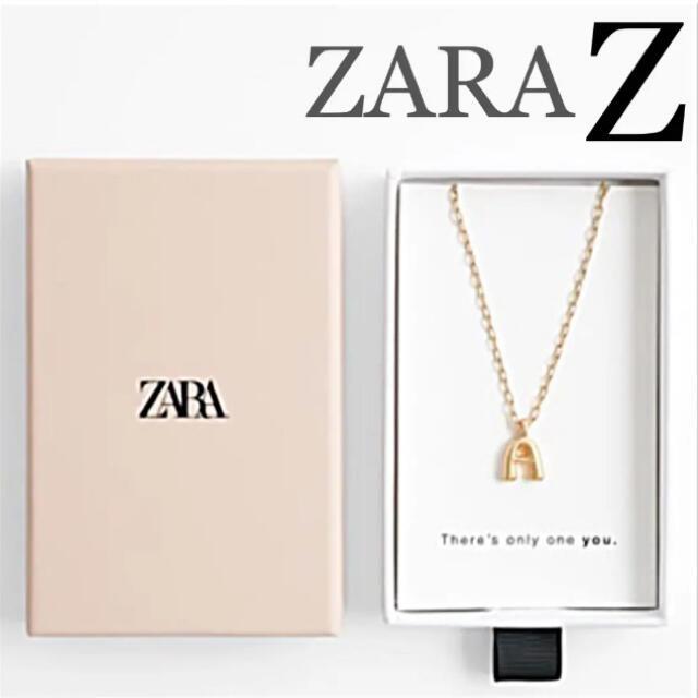 ZARA(ザラ)の【新品未使用】ZARA イニシャルペンダント ネックレス Z レディースのアクセサリー(ネックレス)の商品写真