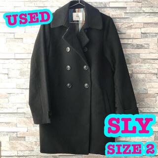 スライ(SLY)のUSED 着用回数少なめ SLY チェスターコート BLACK SIZE 2(チェスターコート)