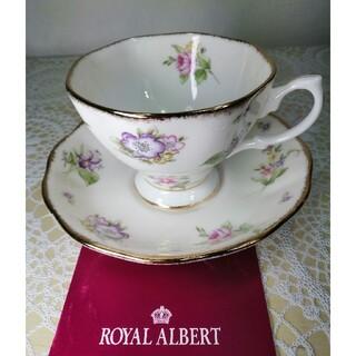 ロイヤルアルバート(ROYAL ALBERT)の新品未使用ロイヤルアルバート100周年記念カップ&ソーサー1客セット(グラス/カップ)