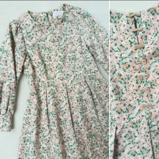 anatelier - [上質◇anatelier アナトリエ]バックリボン花柄ドレスワンピース