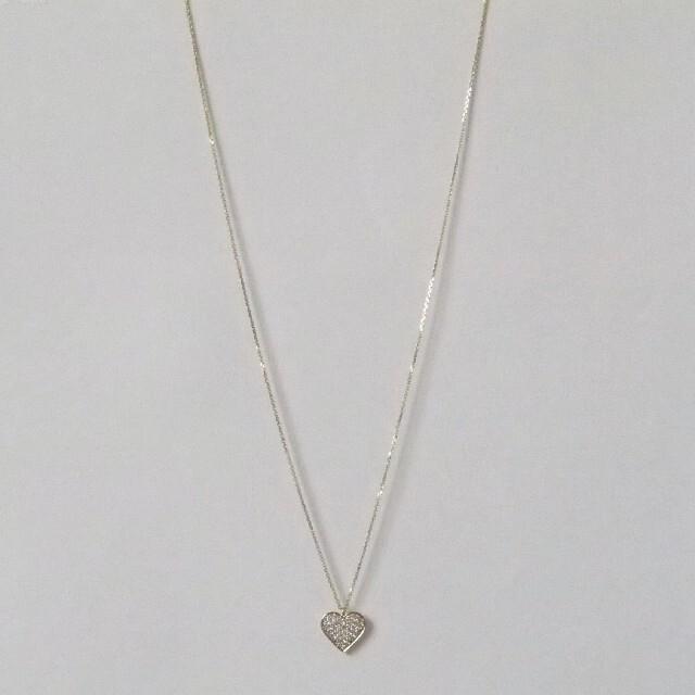 Vendome Aoyama(ヴァンドームアオヤマ)のヴァンドーム青山│ネックレス ダイヤモンド ハート K18 0.30ct│極美品 レディースのアクセサリー(ネックレス)の商品写真