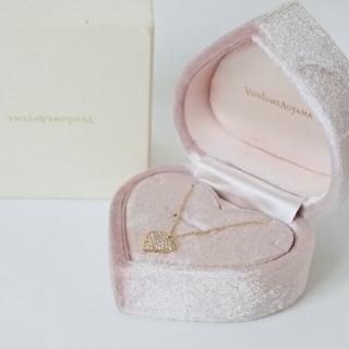 Vendome Aoyama - ヴァンドーム青山│ネックレス ダイヤモンド ハート K18 0.30ct│極美品