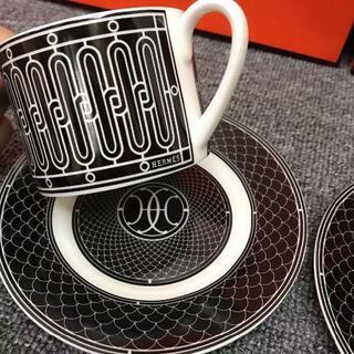 Hermes - エルメス H アッシュデコ マグカップ ( 黒 ) × 2個セット!