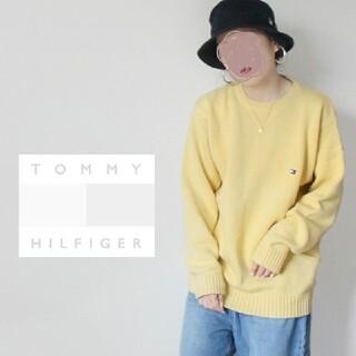 TOMMY HILFIGER - 【90s】Tommy Hilfiger ゆるだぼ♡ 重め フラッグ刺繍 ニット