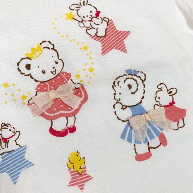 familiar(ファミリア)の現行品♡新品未使用 ファミリア リアちゃんチュールリボン♡ロンT90 キッズ/ベビー/マタニティのキッズ服女の子用(90cm~)(Tシャツ/カットソー)の商品写真