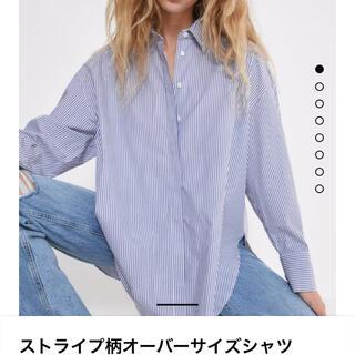 ZARA - ZARA ザラ ストライプ柄オーバーサイズシャツ ストライプシャツ