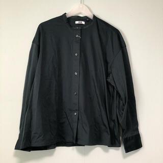ユニクロ(UNIQLO)のUNIQLO U マーセライズスタンドカラーシャツ(シャツ/ブラウス(長袖/七分))