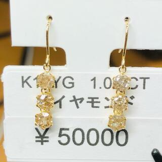 DE-17162 K18YG フックピアス ダイヤモンド AANI アニ