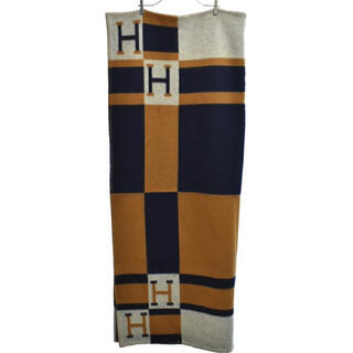 Hermes - 美品 Hermes  アヴァロン インディゴ ブランケット