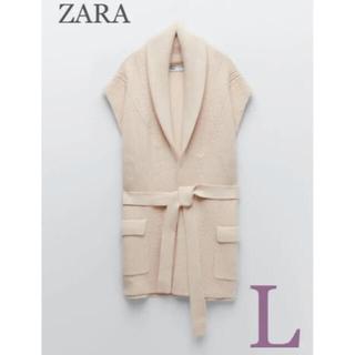 ZARA - 【新品・未使用】ZARA ベルト ニット ベスト L