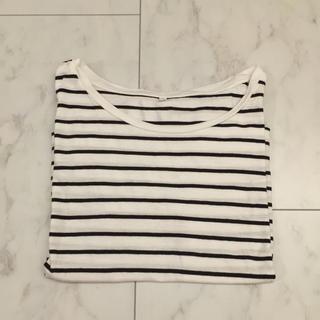 ムジルシリョウヒン(MUJI (無印良品))のドロップショルダー Tシャツ ボーダー(Tシャツ(半袖/袖なし))