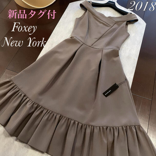 FOXEY - フォクシー FOXEY ワンピース✨新品未使用タグ付✨定価8万円近 ロング丈40