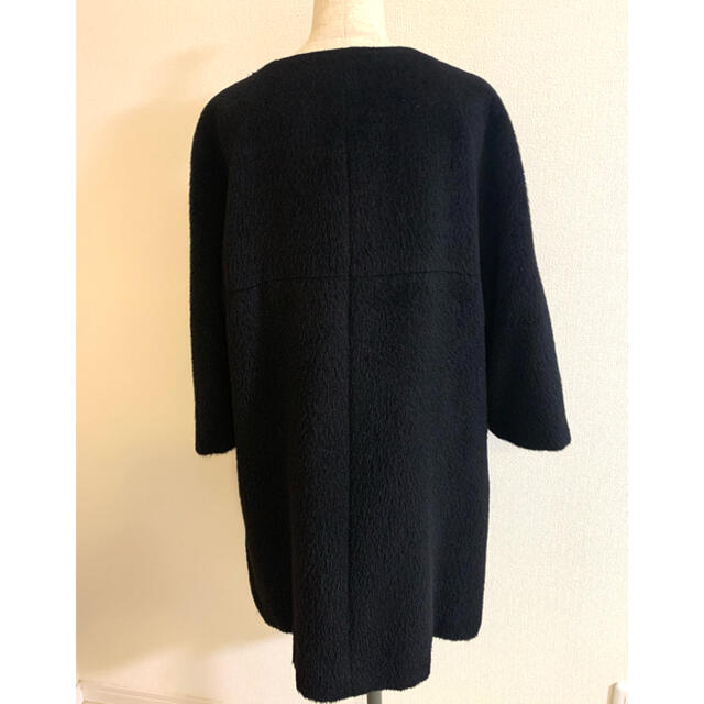 ADORE(アドーア)のアドーア アルパカ&ウール  コート 38 黒 レディースのジャケット/アウター(ロングコート)の商品写真